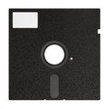 Old floppy disk black inches isolated on a white background Stock Photography