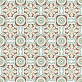 Old floral tiles background vintage flower seamless pattern abstract wallpaper texture royal vector fabric illustration Royalty Free Stock Photo
