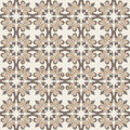 Old floral tiles background vintage flower seamless pattern abstract wallpaper texture royal vector fabric illustration Stock Photography