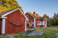 Old folk school on harstena in sweden historic the island principally known for the seal hunting that was once carried out there Stock Photo