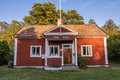 Old folk school harstena in sweden on the island principally known for the seal hunting that was once carried out there it is now Royalty Free Stock Images