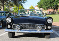 Old ford thunderbird car the at the show Royalty Free Stock Photo
