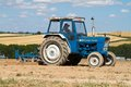 Old ford 4000 tractor ploughing