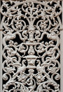 Old forged decorative detail iron railing decorated by ornament on a door Royalty Free Stock Photography