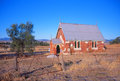 Old forgotten church in remote australia being renovated Royalty Free Stock Image