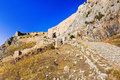 Old fort in Corinth, Greece Stock Images
