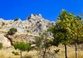Old fort in corinth greece archaeology background Stock Image