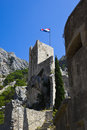 Old fort in Omis Royalty Free Stock Photos
