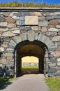 Old fortification entrance Royalty Free Stock Photo