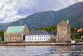 Old fortress in Bergen Norway Royalty Free Stock Photo