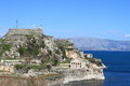 Old fortress corfu greece Royalty Free Stock Images