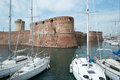 Old fortress in livorno town city of region of tuscany italy Stock Image
