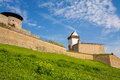Old fortress narva estonia hermann bastion fortuna and castle of the order of teutonic knights baltic states europe Stock Image