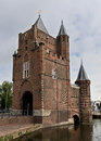 Old fortress tower in haarlem netherlands Royalty Free Stock Photos