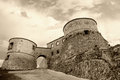 Old fortress under cloudy sky Royalty Free Stock Photography
