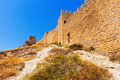 Old fortress wall in albarracin aragon spain Royalty Free Stock Image
