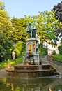 The old fountain brussels belgium june petit sablon garden is best place for relax and enjoy scenic of counts edgmont and Stock Photos