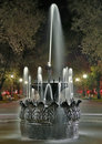 Old fountain at night in the park Royalty Free Stock Photo