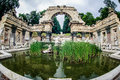 Old fountain in park of Schonbrunn Palace Royalty Free Stock Photography