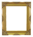 Old Frame gold and copper vintage isolated background. Royalty Free Stock Photo