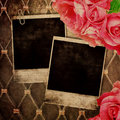 Old frame for photo Royalty Free Stock Photo