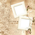 Old frame on victorian background Royalty Free Stock Image