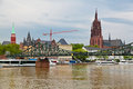 Old frankfurt germany panorama of Royalty Free Stock Photos