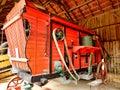 Vintage French threshing machine Royalty Free Stock Photo