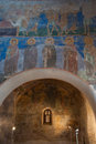 Old frescoes in Russian church Royalty Free Stock Photo