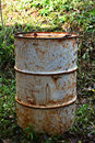 Old fuel tanks rusty metal tank Royalty Free Stock Photos