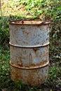 Old fuel tanks rusty metal tank Royalty Free Stock Photos