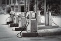 Old fueling station retro style colors Stock Photography