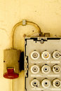 Old fuse box 02 Royalty Free Stock Photography