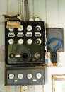 Old fuse box in a abandoned house Royalty Free Stock Photo