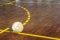 Old futsal court Royalty Free Stock Photo