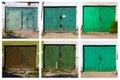 Old garage door, six pictures