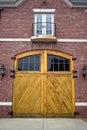 Old Garage Doors Stock Photography
