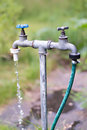 Old garden tap Royalty Free Stock Photo