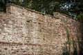 Old garden wall brick boundary Stock Photography