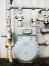 Old Gas Meter Stock Photo