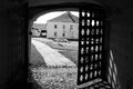 Old gate in Kirillo-Belozersky monastery by day. Royalty Free Stock Photo