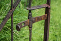 Old gate latch rusty church cemetary Stock Photography