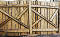 Old gate made wooden planks Royalty Free Stock Images