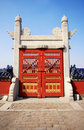 Old gate in The Temple of Heaven, Beijing. Stock Photos