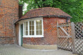 Old gated roundhouse photo of an victorian in a kent country garden Stock Photography