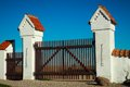 Old gates in rural part of denmark Stock Photography