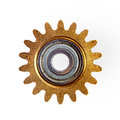 Old gear isolated Royalty Free Stock Photo