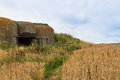 Old german bunker in normandy france second world war Stock Image