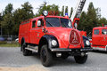 Old german fire brigade car Stock Photo