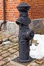 Old german fire column. Kaliningrad (Koenigsberg before 1946), Russia